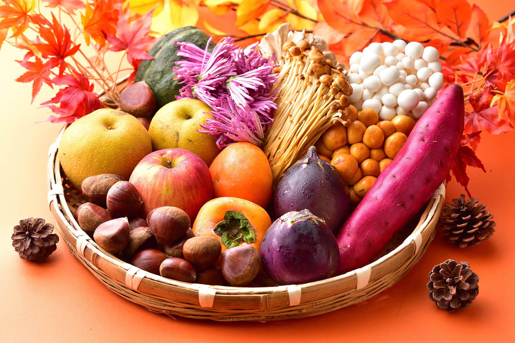 地元の新鮮な高原野菜と魚カレンダー〈秋〉