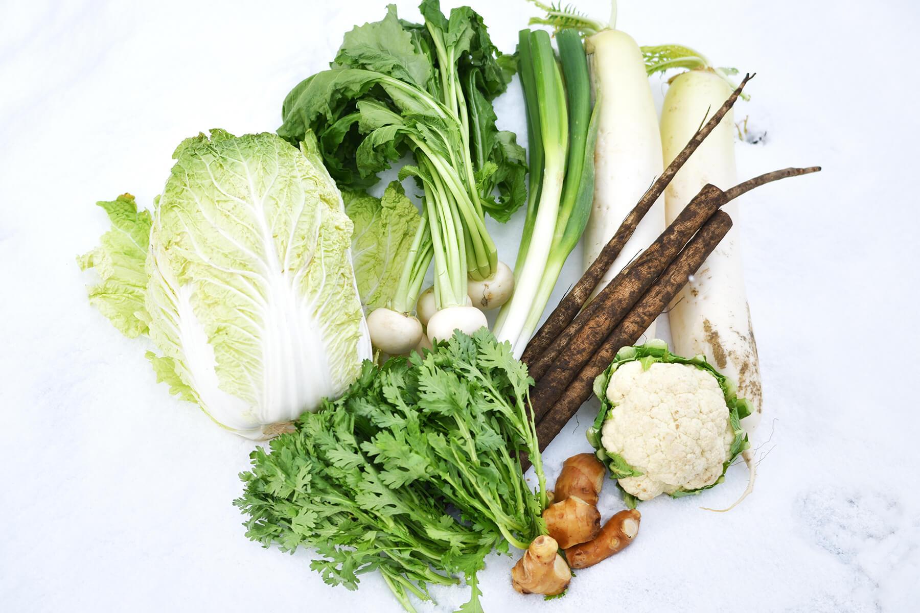 地元の新鮮な高原野菜と魚カレンダー〈冬〉
